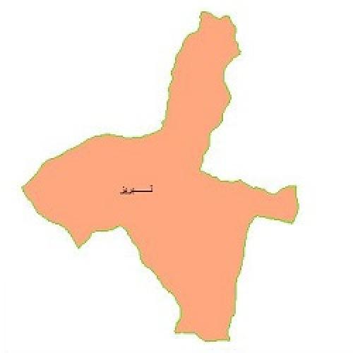 شیپ فایل محدوده سیاسی شهرستان تبریز (واقع در استان آذربایجان شرقی)