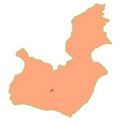شیپ فایل محدوده سیاسی شهرستان اهر (واقع در استان آذربایجان شرقی)