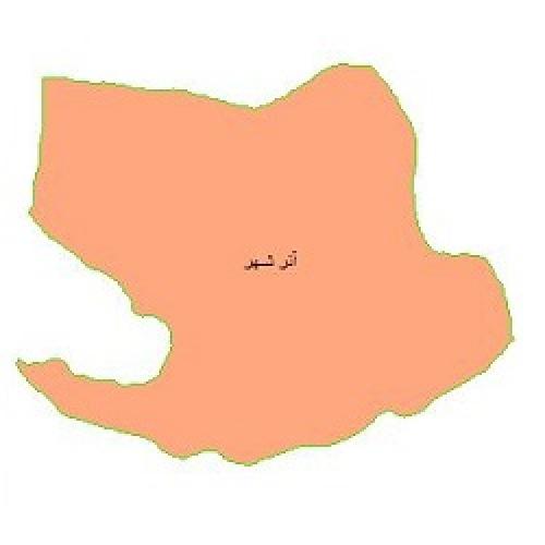 شیپ فایل محدوده سیاسی شهرستان آذرشهر (واقع در استان آذربایجان شرقی)
