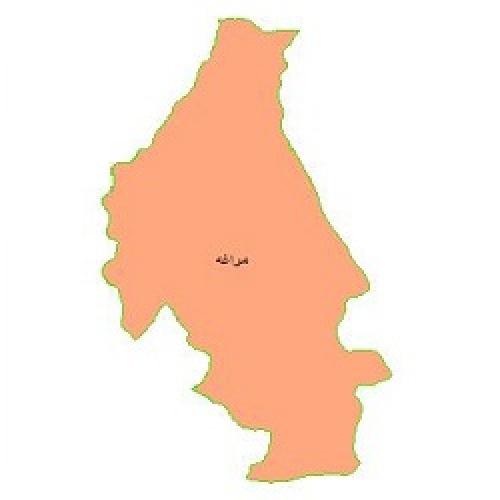 شیپ فایل محدوده سیاسی شهرستان مراغه (واقع در استان آذربایجان شرقی)
