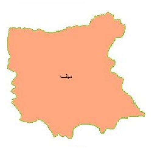 شیپ فایل محدوده سیاسی شهرستان میانه (واقع در استان آذربایجان شرقی)