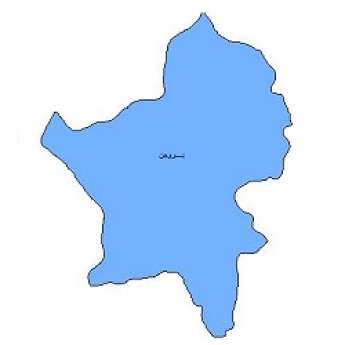 شیپ فایل محدوده سیاسی شهرستان بروجن (واقع در استان چهارمحال و بختیاری)