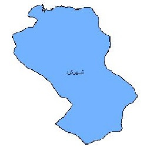 شیپ فایل محدوده سیاسی شهرستان شهرکرد (واقع در استان چهارمحال و بختیاری)