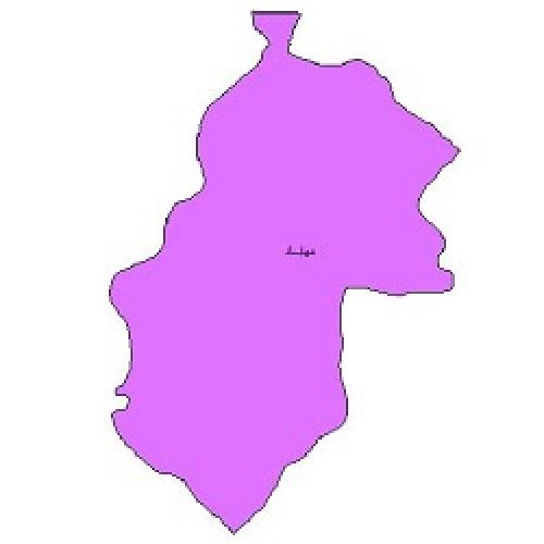 شیپ فایل محدوده سیاسی شهرستان مهاباد (واقع در استان آذربایجان غربی)