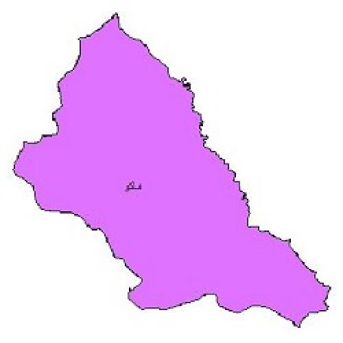 شیپ فایل محدوده سیاسی شهرستان ماکو (واقع در استان آذربایجان غربی)