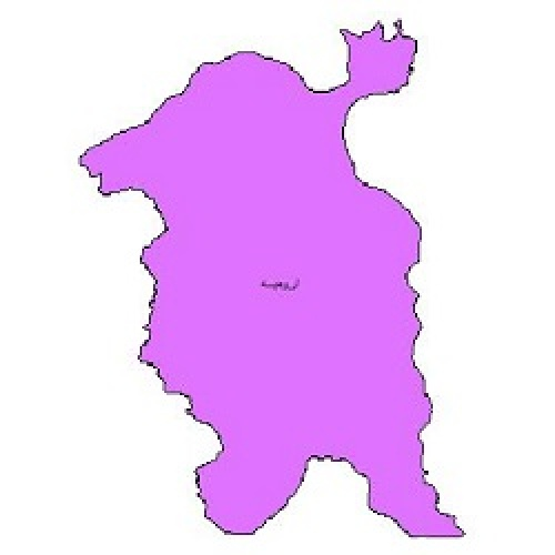 شیپ فایل محدوده سیاسی شهرستان ارومیه (واقع در استان آذربایجان غربی)