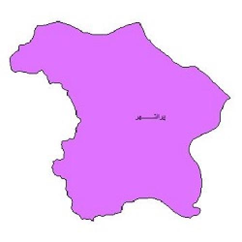 شیپ فایل محدوده سیاسی شهرستان پیرانشهر (واقع در استان آذربایجان غربی)