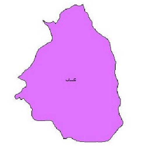شیپ فایل محدوده سیاسی شهرستان تکاب (واقع در استان آذربایجان غربی)